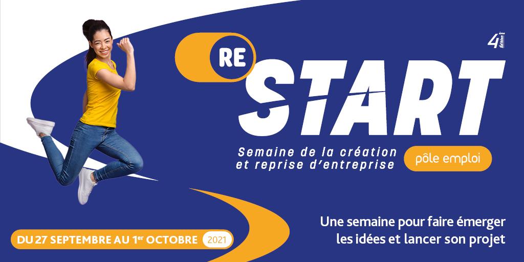 Rendez-vous pour la 4ème édition de ReStart avec Pôle Emploi, la semaine pour création et la reprise d'entreprise